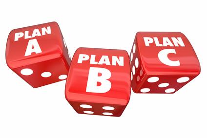 Plan A B C Dice Alternative Options Fall Back